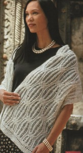 lacy cables shawl